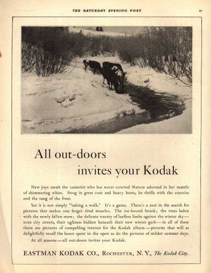 Kodak – All out-doors invites your Kodak (1921)