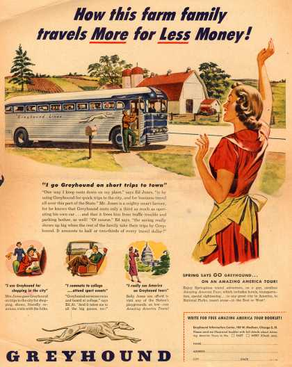 Greyhound – How this farm family travels More for Less Money (1950)