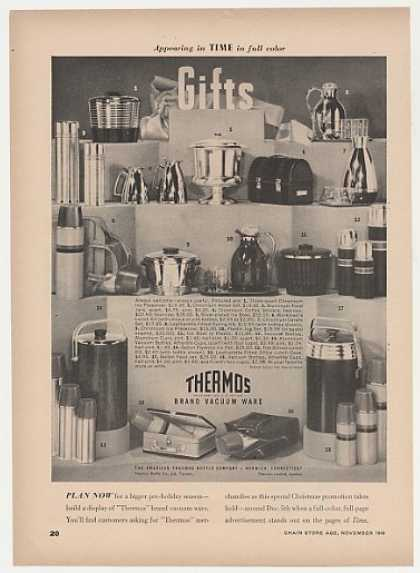 Thermos Vacuum Ware 18 Products (1949)