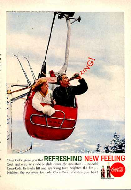 Coke Coca Cola Ski Lift Skiing (1962)