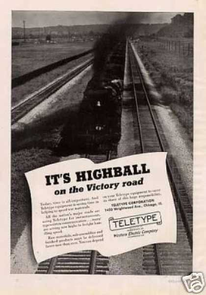 "Teletype Ad ""It's Highball... (1942)"