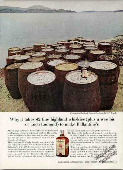 Ballantine's Scotch 42 Barrels By Loch Lomond (1962)