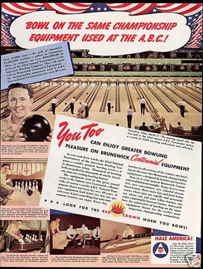 ABC Bowling Tournament Ned Day Brunswick (1942)