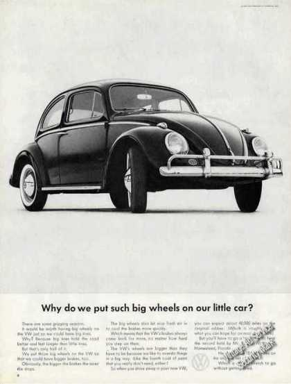 "Vw Volkswagen ""Why Big Wheels On Little Car?"" (1963)"