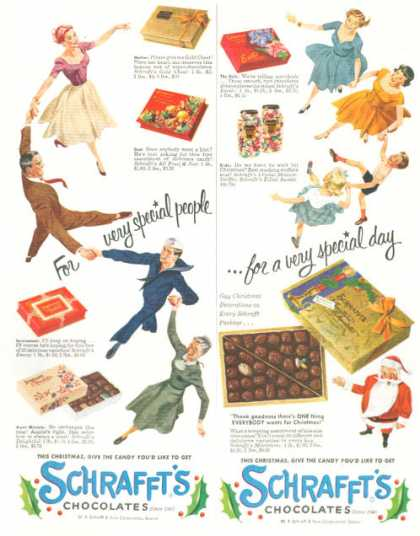 Schrafft's Fine Box Chocolates (1952)