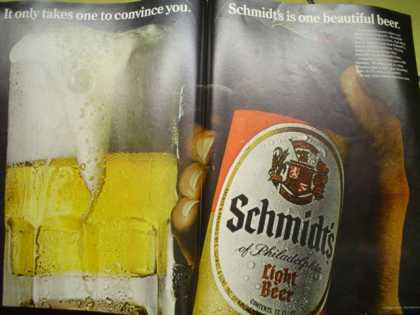 Schmidts light beer One beautiful beer (1968)