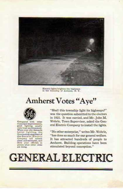 General Electric – Amherst, New York Street Lights (1926)
