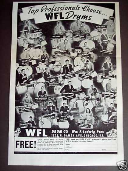 Wfl Ludwig Drums Buddy Rich Earl Walker (1948)