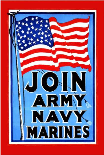 Join, Army, Navy, Marines