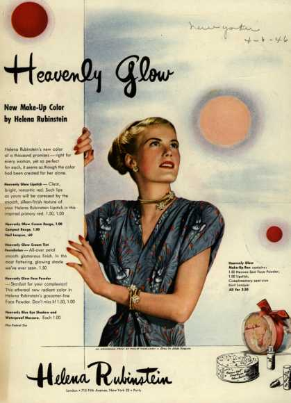 Helena Rubinstein's Heavenly Glow make-up – Heavenly Glow (1946)
