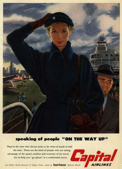 "Capital Airlines – Speaking of people ""On the way up"" (1951)"