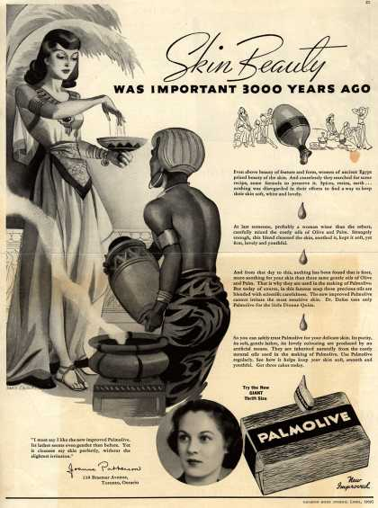 Palmolive Company's Palmolive Soap – Skin Beauty Was Important 3000 Years Ago (1939)