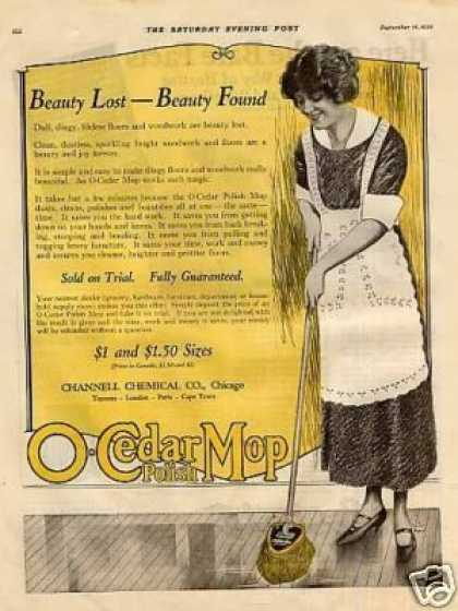 O-cedar Mop Polish Color (1922)
