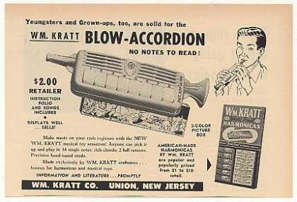 WM Kratt Co Blow Accordion Toy (1953)