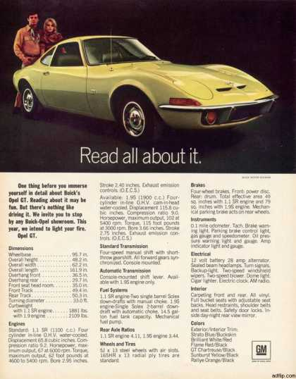 General Motor&#8217;s Opel GT (1970)