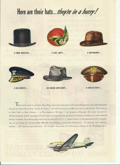 Traveling Hats Air Transport Assoc (1943)