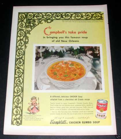 Campbell's Chicken Gumbo Soup, Exc (1949)