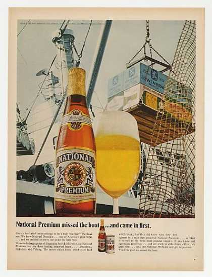 National Premium Beer Bottle Missed Boat Photo (1968)