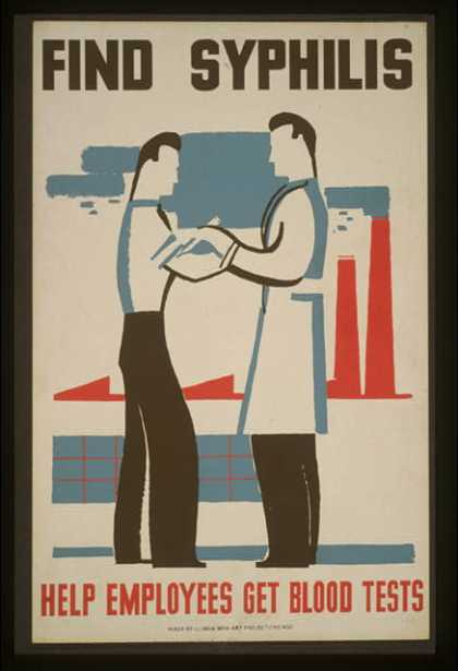 Find syphilis – Help employees get blood tests. (1936)