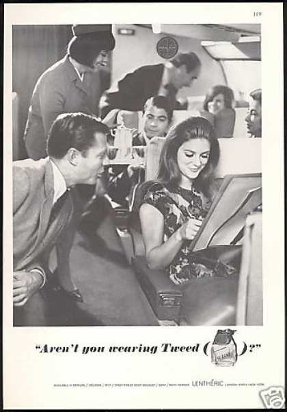 Tweed Perfume Pan Am Airlines Plane Stewardess (1967)