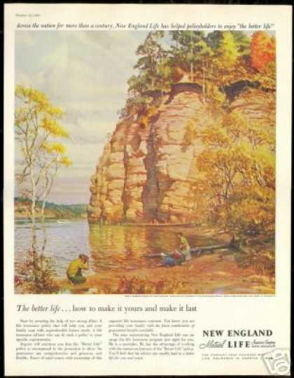 Wisconsin Dells Lovell Art New England Mutual (1960)