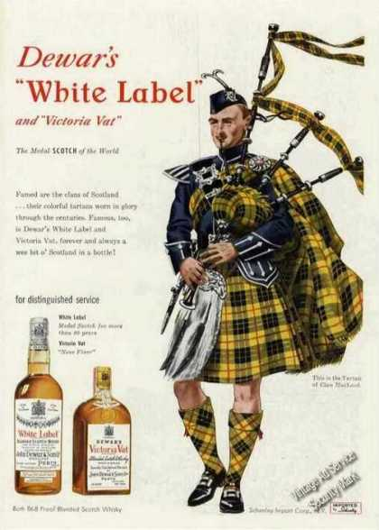 Dewar's White Label Tartan of Clan Macleod (1950)