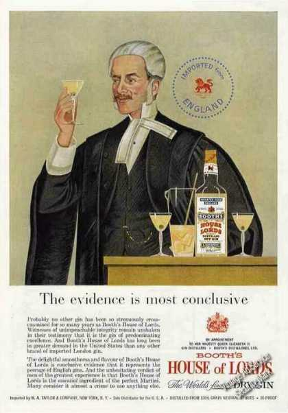 Booth's House of Lords Gin (1957)