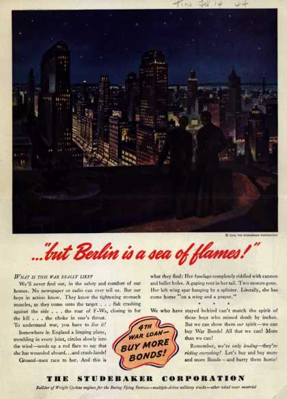 "Studebaker Corporation's 4th War Loan – ...""but Berlin is a sea of flames!"" (1944)"