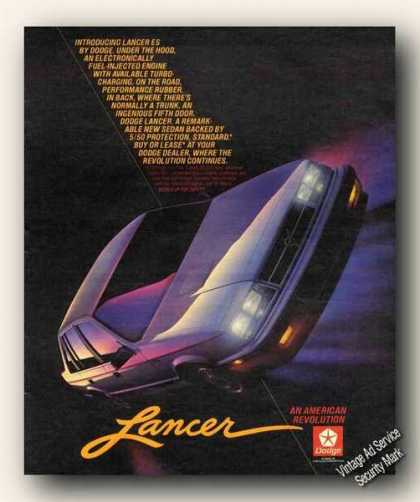 Dodge Lancer Es an American Revolution (1984)