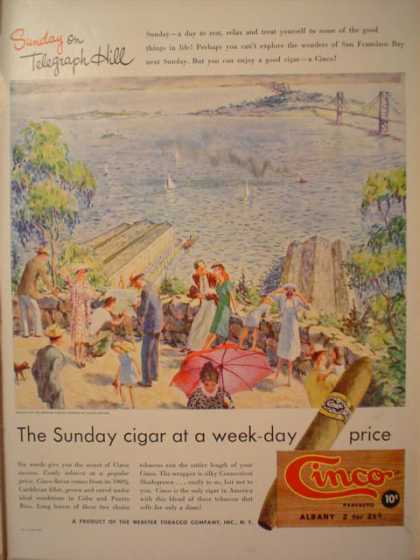Cinco The Sunday Cigar at Weekday Price (1947)
