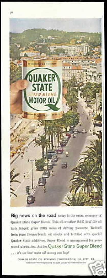 Cannes France Photo Quaker State Oil (1958)