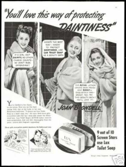 Joan Blondell 3 Photo Vintage Lux Soap (1938)