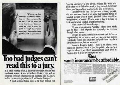 "Aetna Wants Insurance To Be Affordable ""Jury"" (1977)"