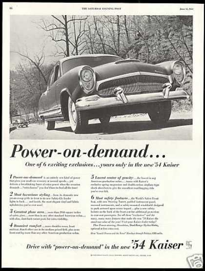 Kaiser Car Photo Six Exclusive's (1954)