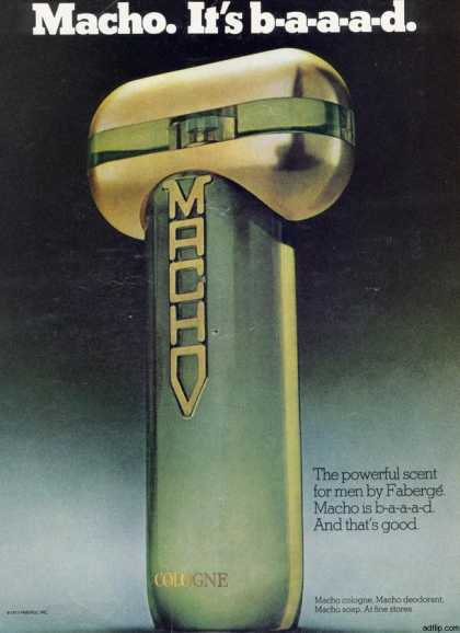 Faberge's Macho After Shave Cologne (1977)