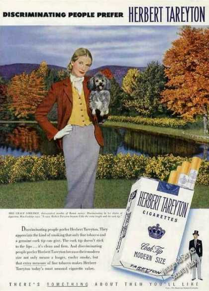 Herbert Tareyton Cigarettes Grace Coolidge (1950)