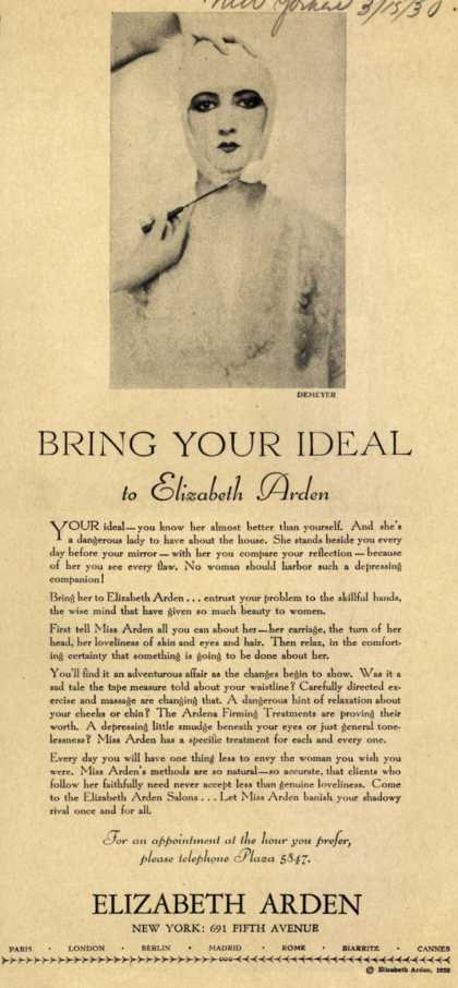 Elizabeth Arden's Exercise and Skin Treatment – Bring Your Ideal to Elizabeth Arden (1930)