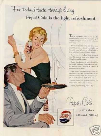 "Pepsi-cola Ad ""For Today's Taste... (1954)"