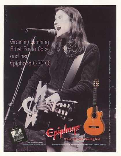 Paula Cole Epiphone C-70 CE Guitar Photo (1998)