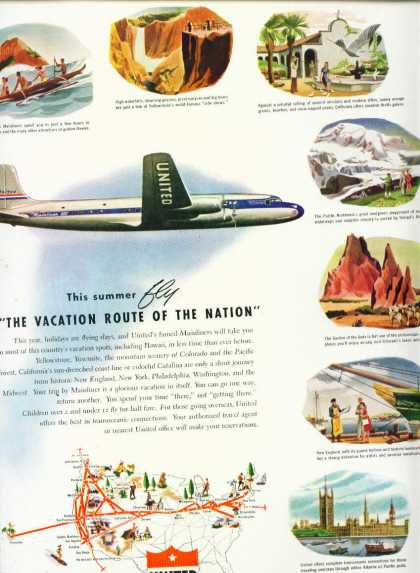 Unted Air Line Vacation Route of the Nationa C (1948)