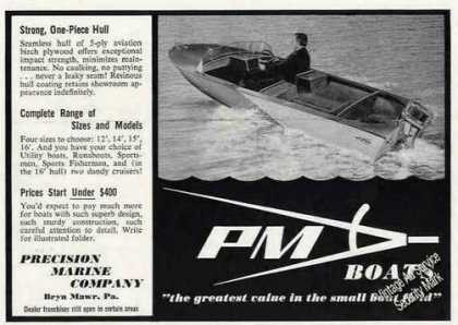Pm Boats Bryn Mawr Pa Photo (1956)