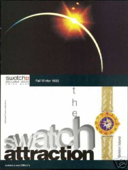 Swatch Watch Golden Island Photo Scuba 200 (1993)