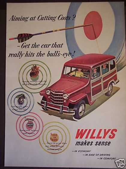 Hurricane Engine Willys Jeep Station Wagon Art (1951)