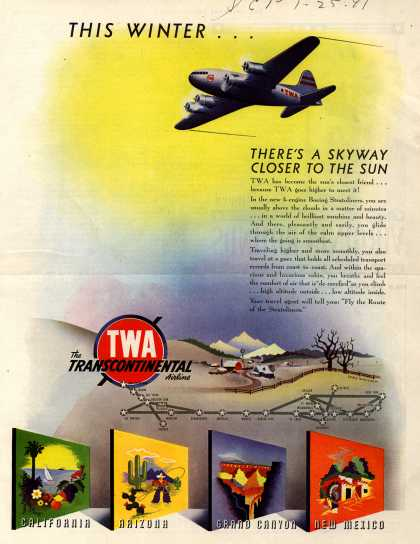 Trans World Airline – THIS WINTER... (1941)