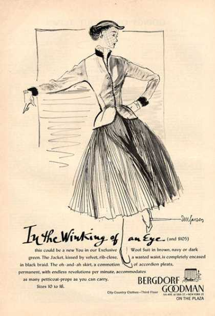 Bergdorf Goodman Fashion Wool Fashion (1951)
