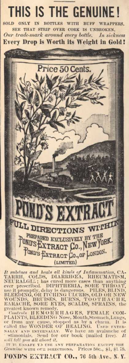 Pond's Extract Co.'s Pond's Extract – This Is The Genuine (1884)