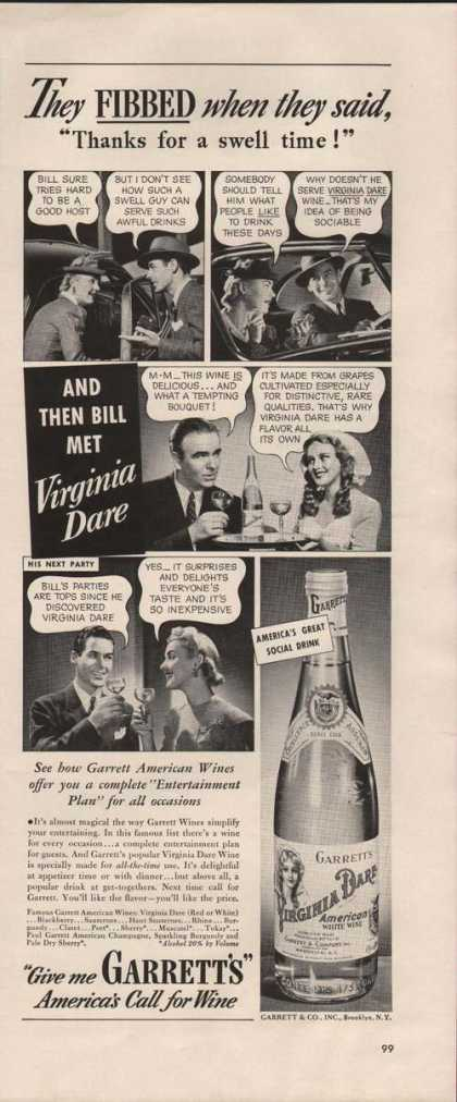 Virginia Dare American White Wine (1941)