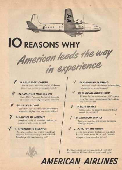 American Airlines 10 Reasons Why (1947)