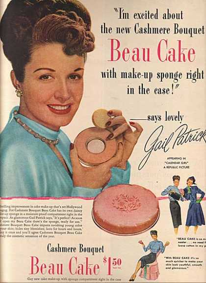 Cashmere Bouquet's Beau Cake Make-Up (1945)