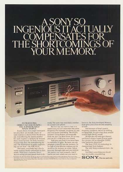 Sony STR-VX33 Stereo Receiver (1982)